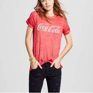 Cocoa-Cola Graphic Burnout Tee Red
